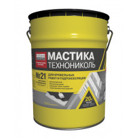 Мастика кровельная №21 Техномаст Технониколь/ расход 2,5-3,5 кг/1м2/ (20л).