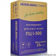 Цемент высокопрочный ПЦІ-500/-(25кг)