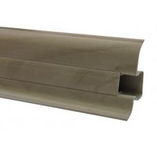 Плинтус напольный 60 мм дуб античный с кабель каналом, матовый (2,5м/шт)