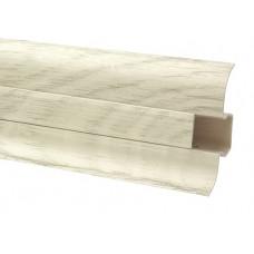 Плинтус напольный 60 мм дуб мокко с кабель каналом, матовый (2,5м/шт)