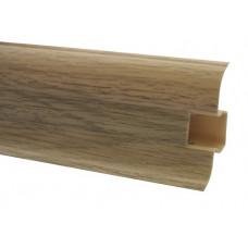Плинтус напольный 60 мм дуб сицилийский с кабель каналом, матовый (2,5м/шт)