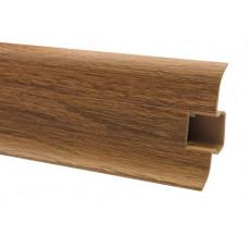 Плинтус напольный 60 мм херитач с кабель каналом, матовый (2,5м/шт)