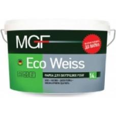 Краска для внутренних работ ECO WEISS MGF DÜFA 14 кг (10л)